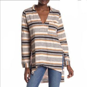 Free People Beach Striped Day Pullover